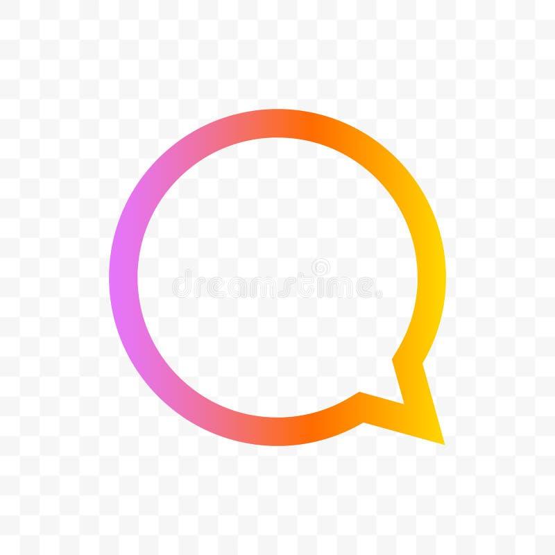 Διανυσματικό εικονίδιο συνομιλίας μηνυμάτων φυσαλίδων αποσπάσματος διανυσματική απεικόνιση