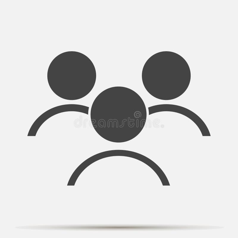 Διανυσματικό εικονίδιο συνομιλίας χρηστών Σύμβολο αλληλεπίδρασης ανθρώπων Στρώματα που ομαδοποιούνται ελεύθερη απεικόνιση δικαιώματος