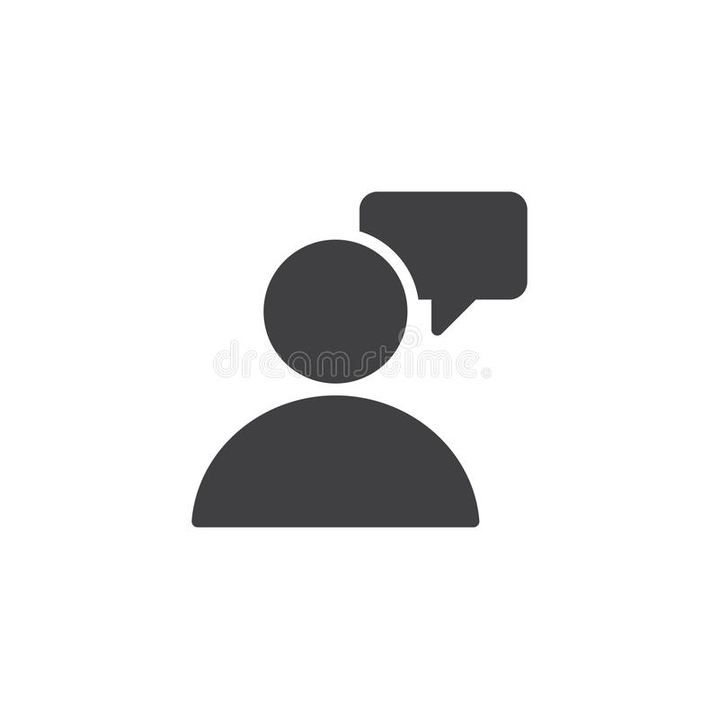 Διανυσματικό εικονίδιο συνομιλίας χρηστών απεικόνιση αποθεμάτων