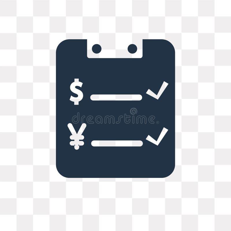 Διανυσματικό εικονίδιο τιμών που απομονώνεται στο διαφανές υπόβαθρο, tra τιμών απεικόνιση αποθεμάτων