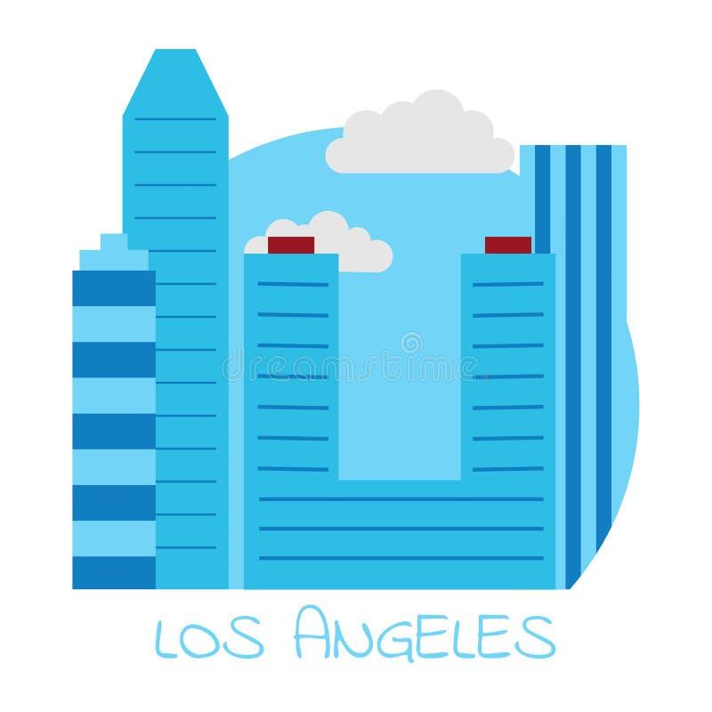 Διανυσματικό εικονίδιο του Λος Άντζελες σε ένα άσπρο υπόβαθρο διανυσματική απεικόνιση