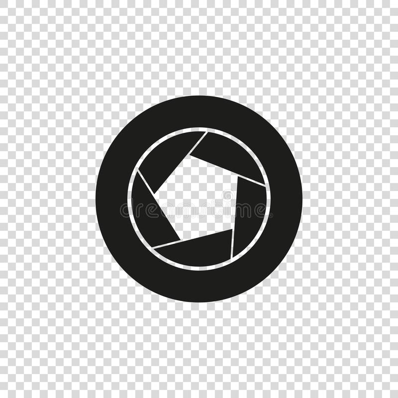 διανυσματικό εικονίδιο του μαύρου χρώματος διαφραγμάτων καμερών απεικόνιση αποθεμάτων