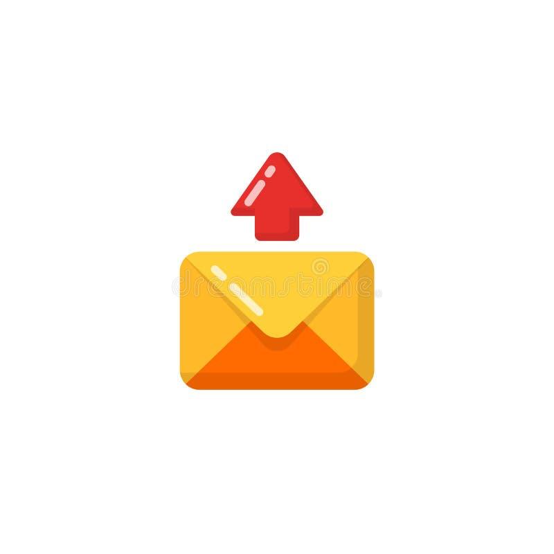διανυσματικό εικονίδιο του σταλμένου μηνύματος απλά επίπεδα διανυσματικά ταχυδρομείο σχεδίου και σύμβολο μηνυμάτων ελεύθερη απεικόνιση δικαιώματος