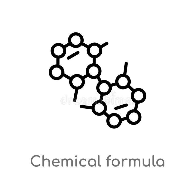 διανυσματικό εικονίδιο τύπου περιλήψεων χημικό απομονωμένη μαύρη απλή απεικόνιση στοιχείων γραμμών από την έννοια εκπαίδευσης r απεικόνιση αποθεμάτων