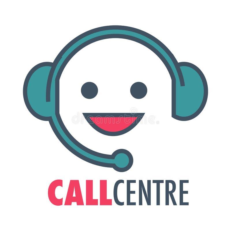 Διανυσματικό εικονίδιο υπηρεσιών υποστήριξης πελατών τηλεφωνικών κέντρων διανυσματική απεικόνιση