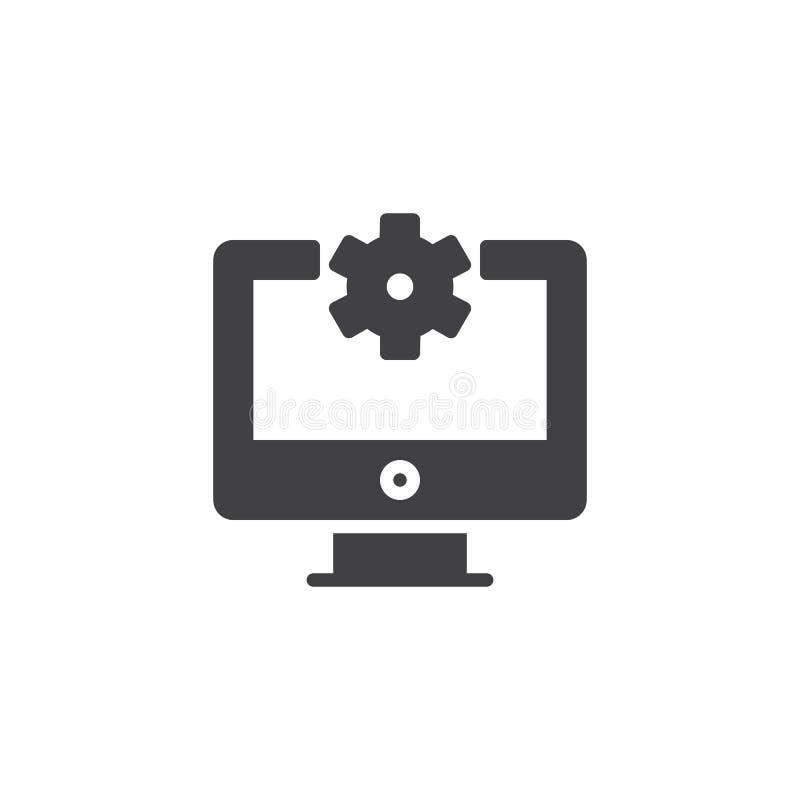 Διανυσματικό εικονίδιο υπολογιστών επισκευής διανυσματική απεικόνιση