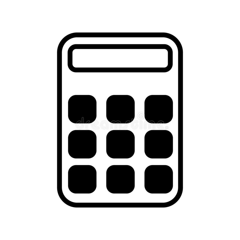 Διανυσματικό εικονίδιο υπολογιστών E Υπολογίστε την απεικόνιση συμβόλων χρηματοδότησης o Τυχαία διαγώνια στοιχεία Γραμμικό ασβέστ ελεύθερη απεικόνιση δικαιώματος