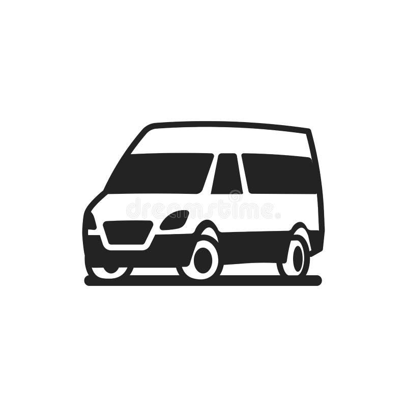 Διανυσματικό εικονίδιο φορτηγών λεωφορείων αυτοκινήτων οχημάτων απεικόνιση αποθεμάτων