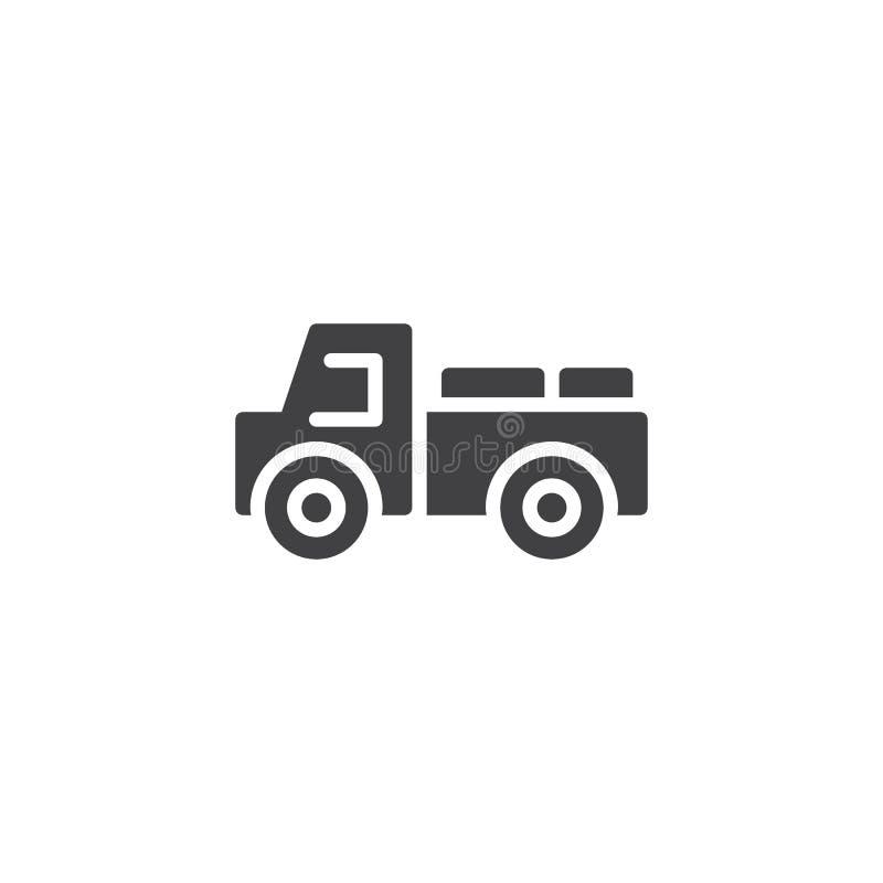 Διανυσματικό εικονίδιο φορτηγών παράδοσης γάλακτος ελεύθερη απεικόνιση δικαιώματος