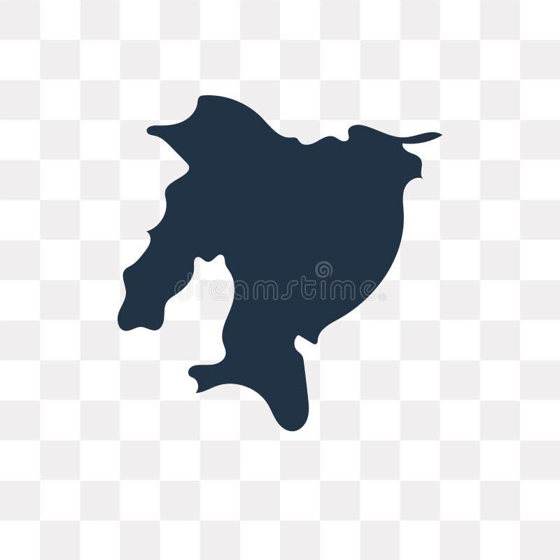 Διανυσματικό εικονίδιο χαρτών του Ισημερινού που απομονώνεται στο διαφανές υπόβαθρο, Ecua διανυσματική απεικόνιση