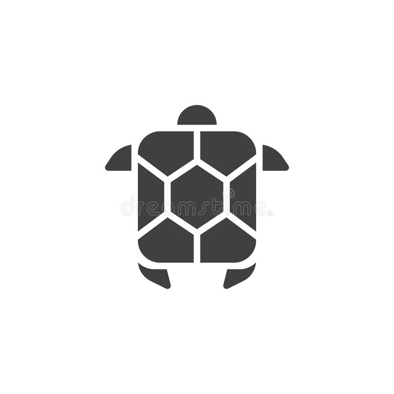 Διανυσματικό εικονίδιο χελωνών θάλασσας ελεύθερη απεικόνιση δικαιώματος