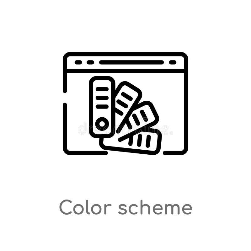 διανυσματικό εικονίδιο χρώματος σχεδίου περιλήψεων απομονωμένη μαύρη απλή απεικόνιση στοιχείων γραμμών από την έννοια φιλοξενίας  ελεύθερη απεικόνιση δικαιώματος