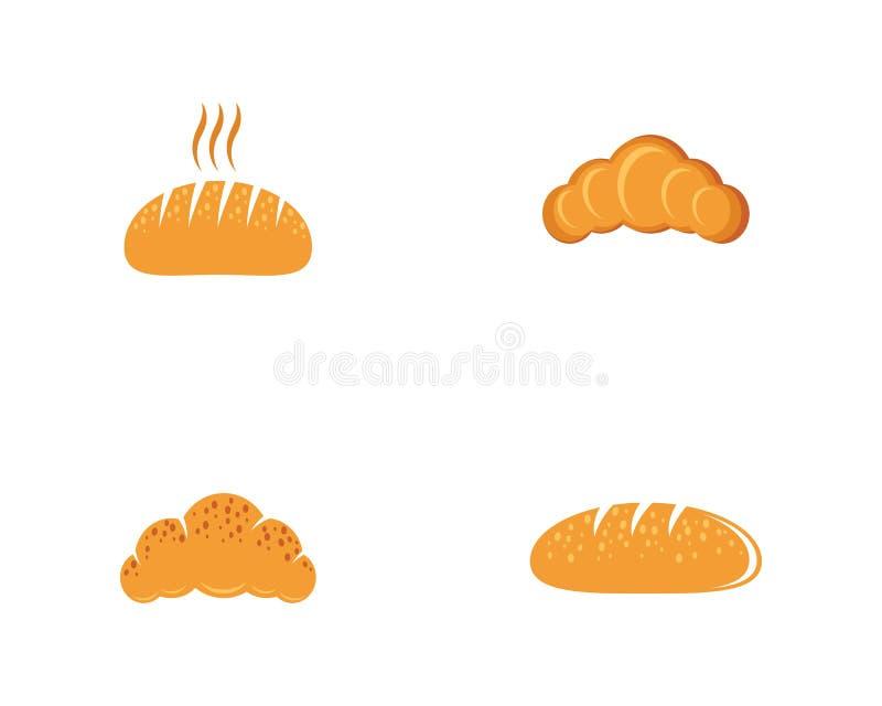 Διανυσματικό εικονίδιο ψωμιού απεικόνιση αποθεμάτων