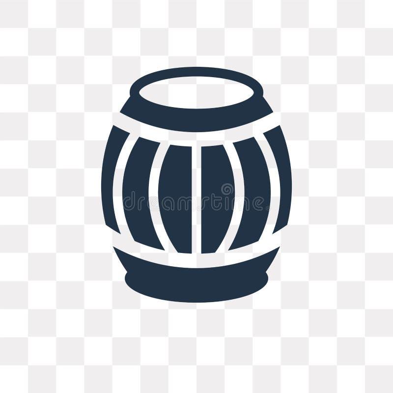 Διανυσματικό εικονίδιο Barrell που απομονώνεται στο διαφανές υπόβαθρο, Barrell διανυσματική απεικόνιση