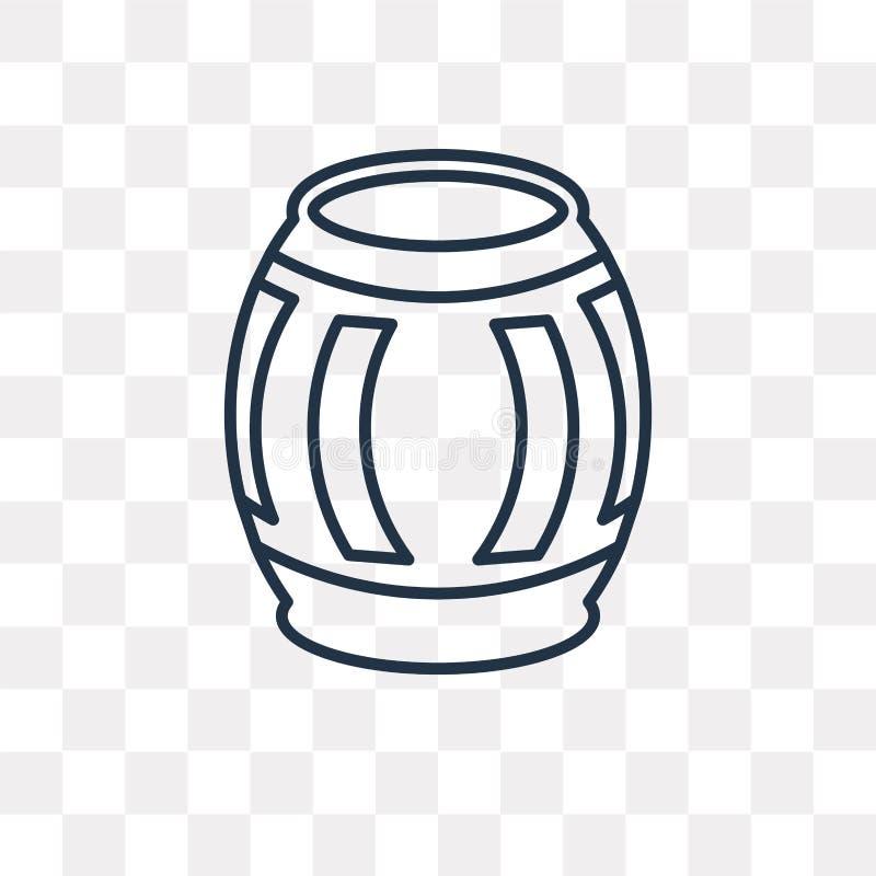 Διανυσματικό εικονίδιο Barrell που απομονώνεται στο διαφανές υπόβαθρο, γραμμικό Β διανυσματική απεικόνιση