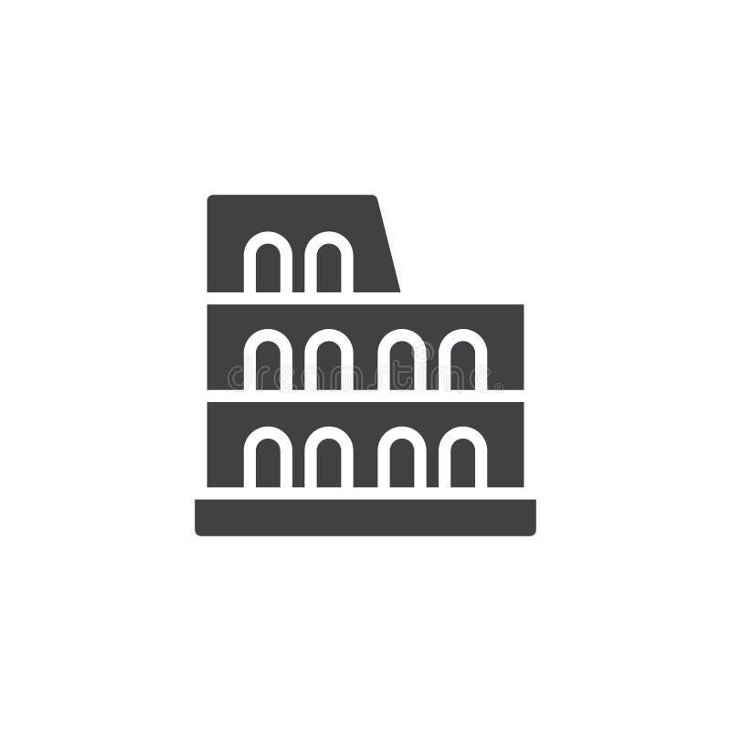 Διανυσματικό εικονίδιο Coliseum απεικόνιση αποθεμάτων