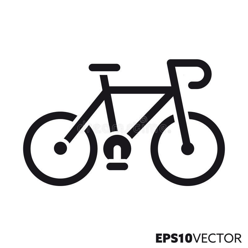 Διανυσματικό εικονίδιο glyph ποδηλάτων διανυσματική απεικόνιση