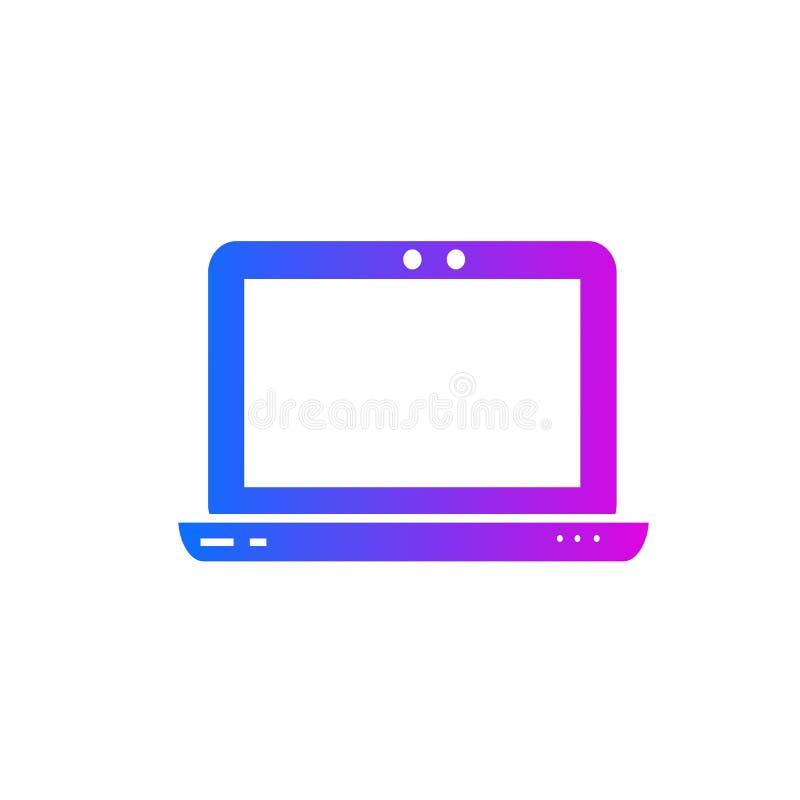 Διανυσματικό εικονίδιο lap-top διανυσματική απεικόνιση