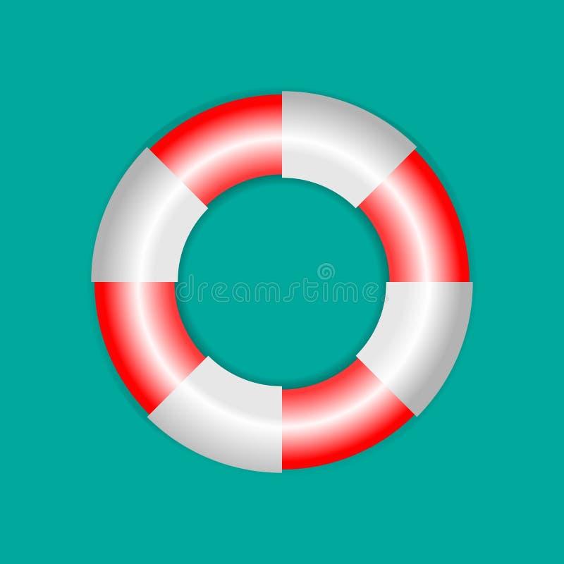 Διανυσματικό εικονίδιο Lifebuoy Διανυσματική τρισδιάστατη απεικόνιση απεικόνιση αποθεμάτων