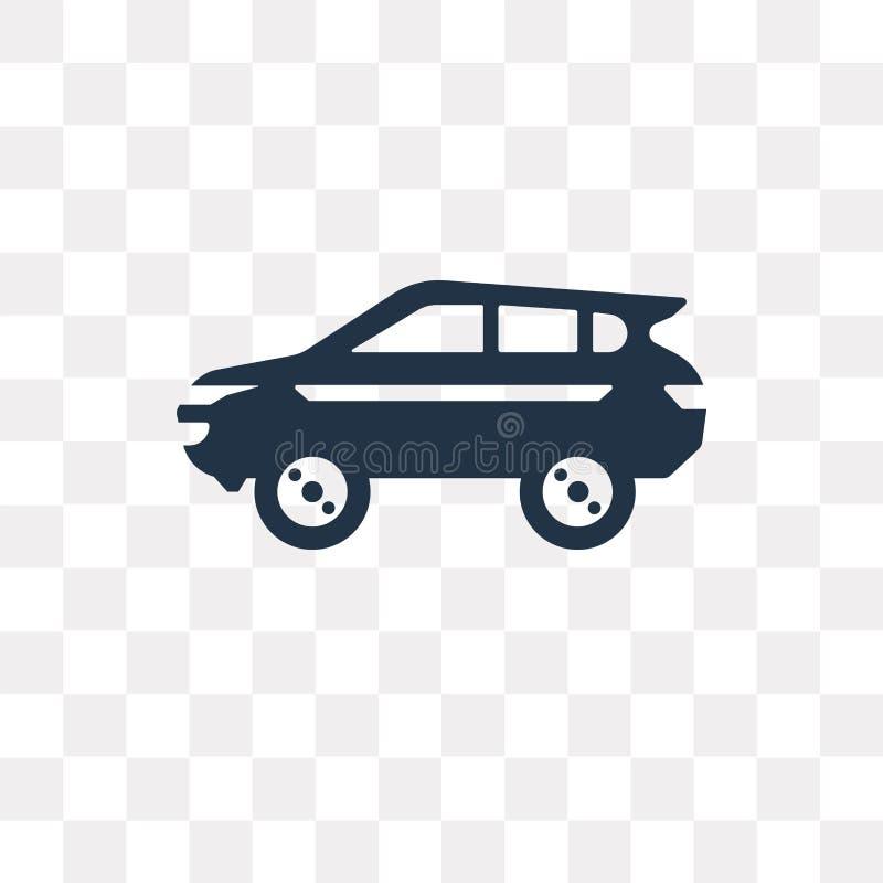 Διανυσματικό εικονίδιο SUV που απομονώνεται στο διαφανές υπόβαθρο, transpa SUV διανυσματική απεικόνιση