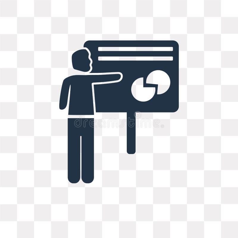 Διανυσματικό εικονίδιο Whiteboard παρουσίασης που απομονώνεται στη διαφανή πλάτη απεικόνιση αποθεμάτων