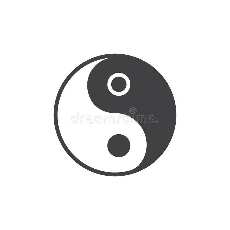 Διανυσματικό εικονίδιο Yang Yin απεικόνιση αποθεμάτων