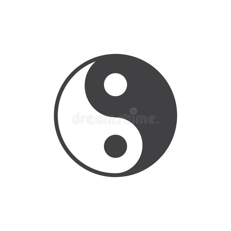 Διανυσματικό εικονίδιο Yin yang απεικόνιση αποθεμάτων