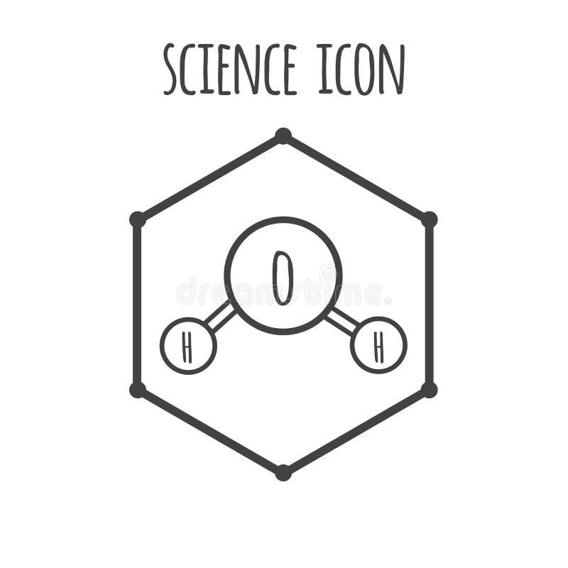 Διανυσματικό εικονίδιο έννοιας μορίων νερού ελεύθερη απεικόνιση δικαιώματος