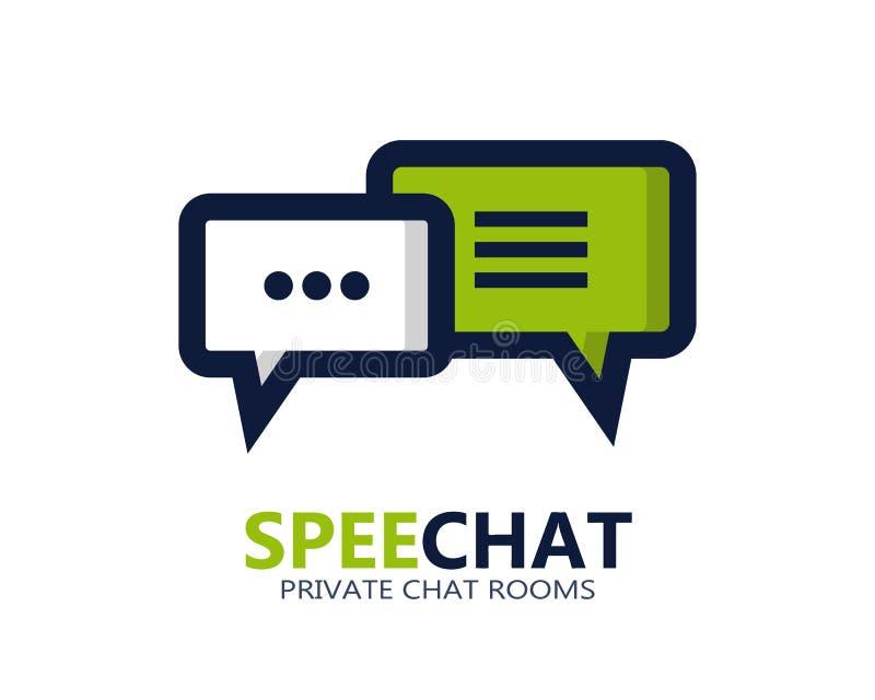 Διανυσματικό εικονίδιο ή λογότυπο συμβόλων συνομιλίας ελεύθερη απεικόνιση δικαιώματος