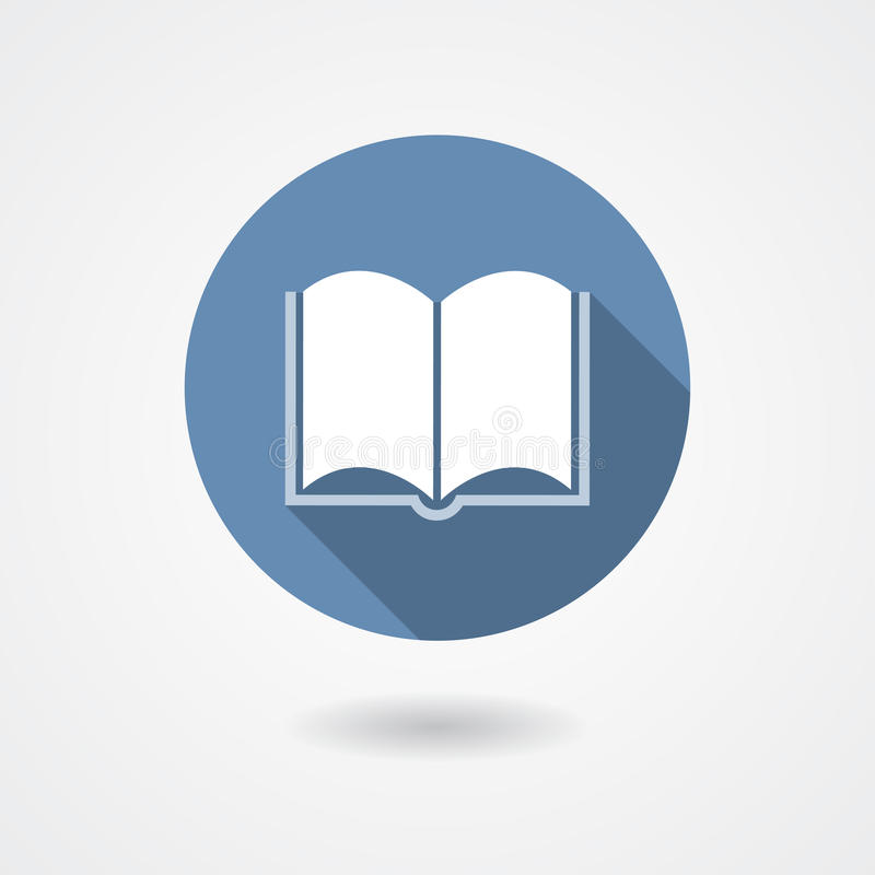 Διανυσματικό εικονίδιο βιβλίων διανυσματική απεικόνιση