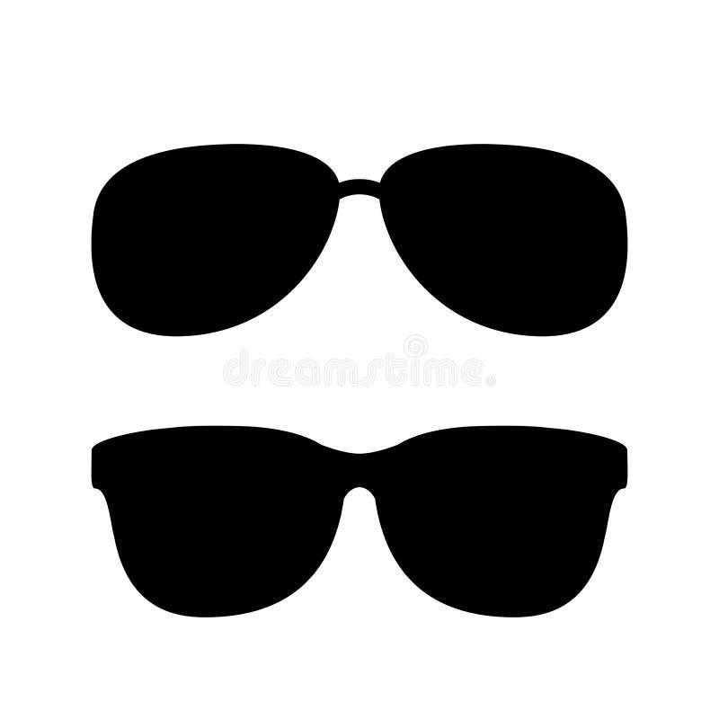 Διανυσματικό εικονίδιο γυαλιών ηλίου ελεύθερη απεικόνιση δικαιώματος