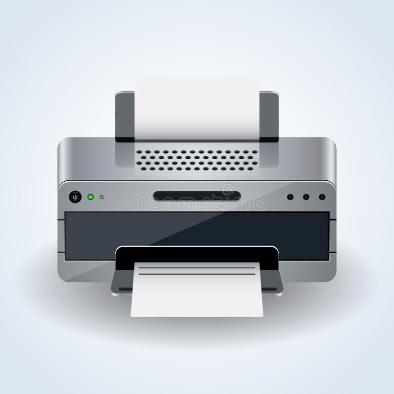 Διανυσματικό εικονίδιο εκτυπωτών υπολογιστών γραφείου απεικόνιση αποθεμάτων