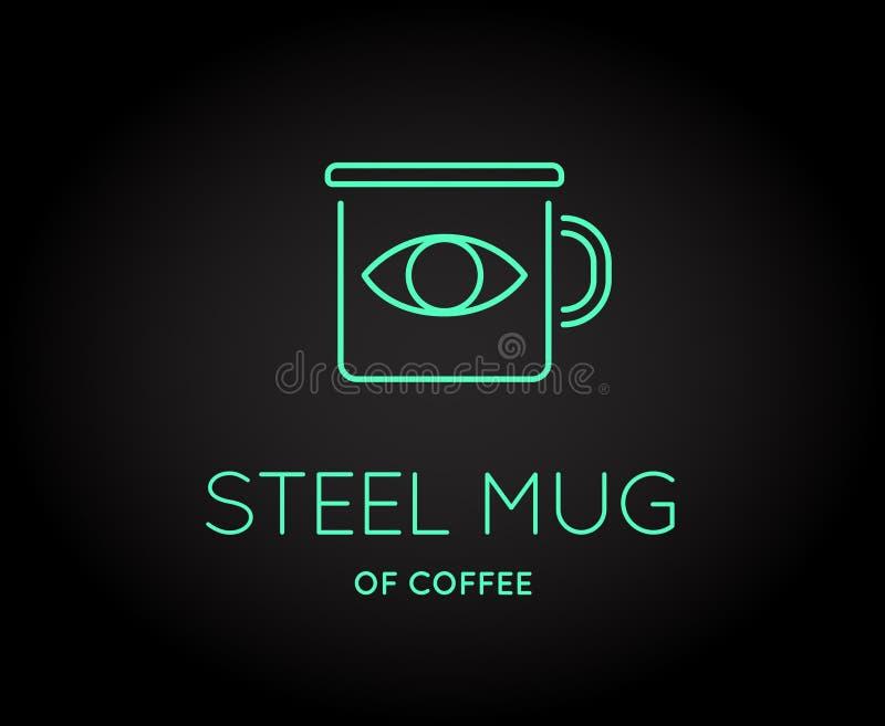 Διανυσματικό εικονίδιο εξαρτημάτων καφέ με το σημάδι επιστολών ελεύθερη απεικόνιση δικαιώματος
