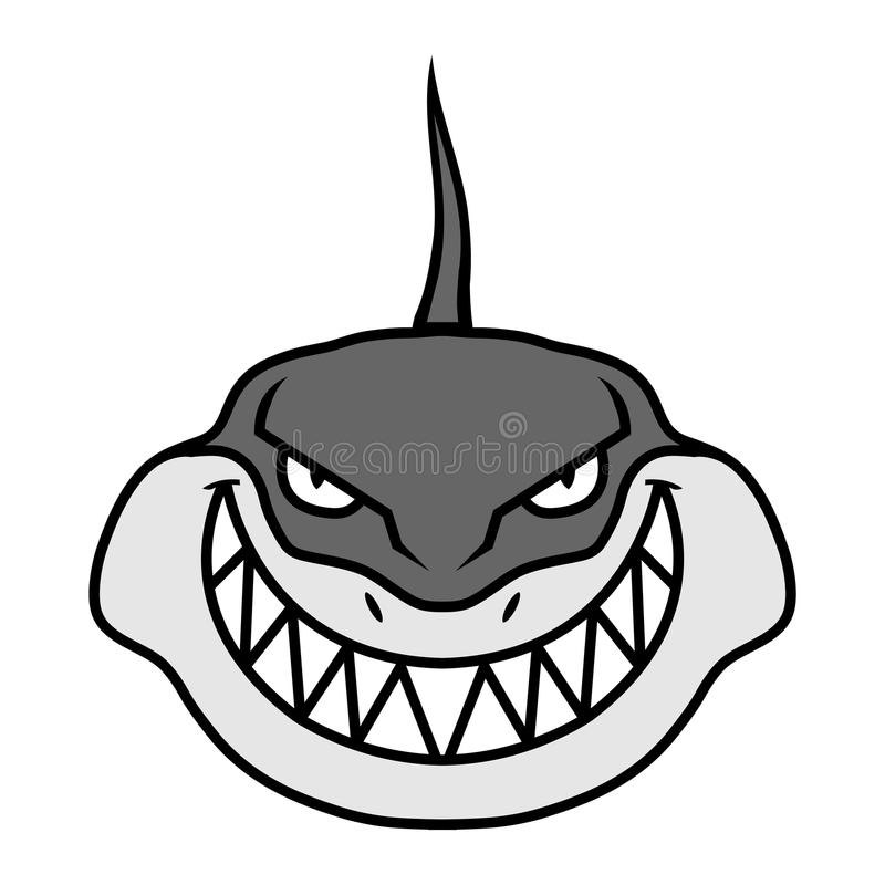 Διανυσματικό εικονίδιο καρχαριών διανυσματική απεικόνιση
