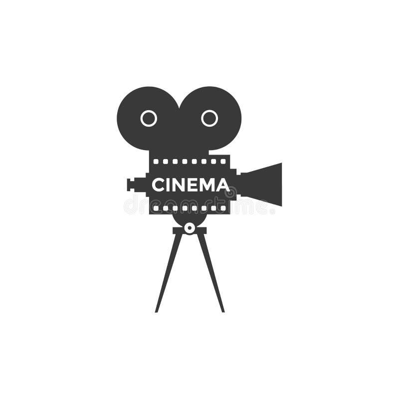 Διανυσματικό εικονίδιο κινηματογράφων διανυσματική απεικόνιση