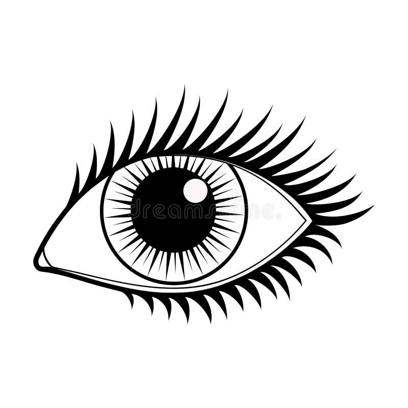 Διανυσματικό εικονίδιο ματιών διανυσματική απεικόνιση