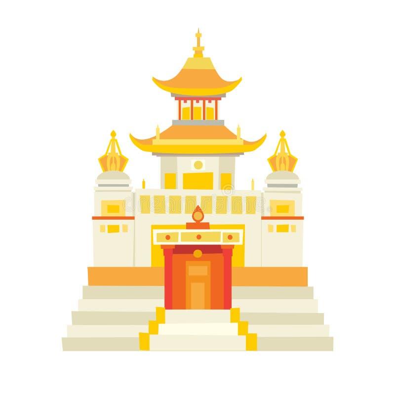 Διανυσματικό εικονίδιο ναών Shaolin ελεύθερη απεικόνιση δικαιώματος
