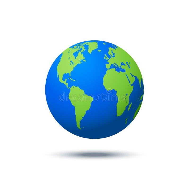 Διανυσματικό εικονίδιο πλανητών Υπόβαθρο απεικόνισης Ιστού σφαίρα που απομονώνεται &gam Σχέδιο παγκόσμιων χαρτών Σφαιρικό σύμβολο απεικόνιση αποθεμάτων