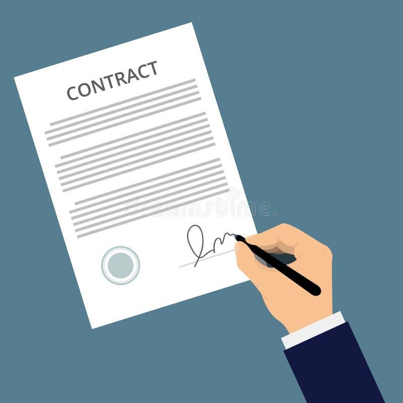 Διανυσματικό εικονίδιο συμφωνίας διανυσματική απεικόνιση