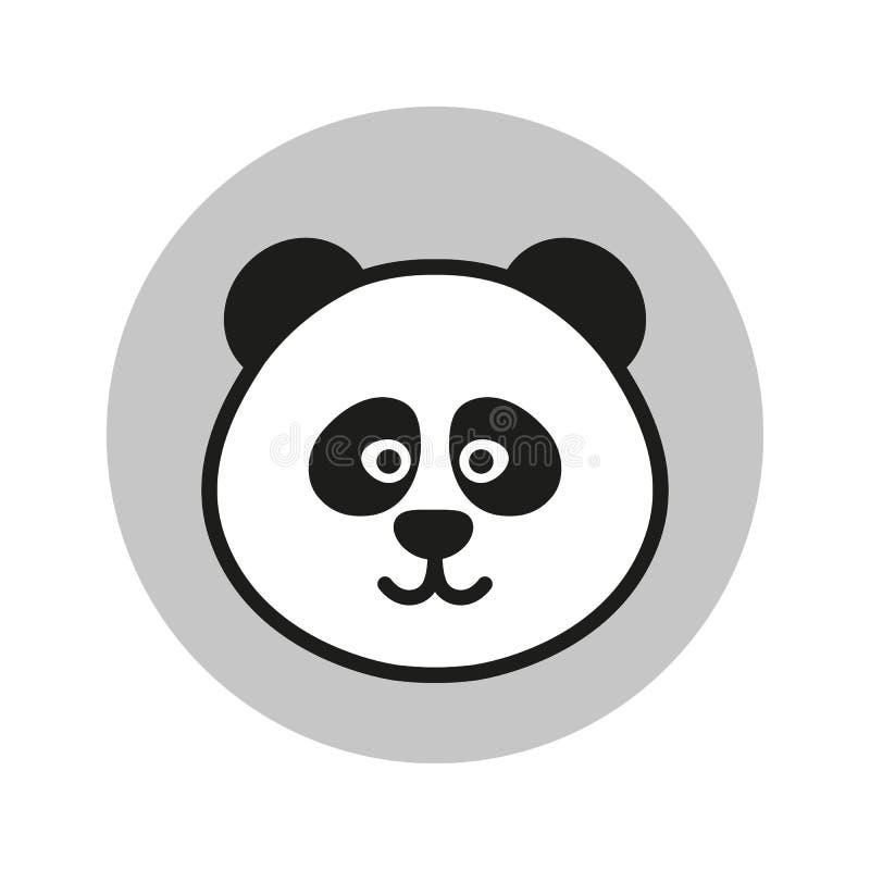 Διανυσματικό εικονίδιο της Panda διανυσματική απεικόνιση