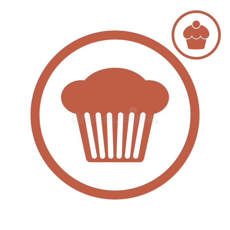 Διανυσματικό εικονίδιο Cupcake απεικόνιση αποθεμάτων