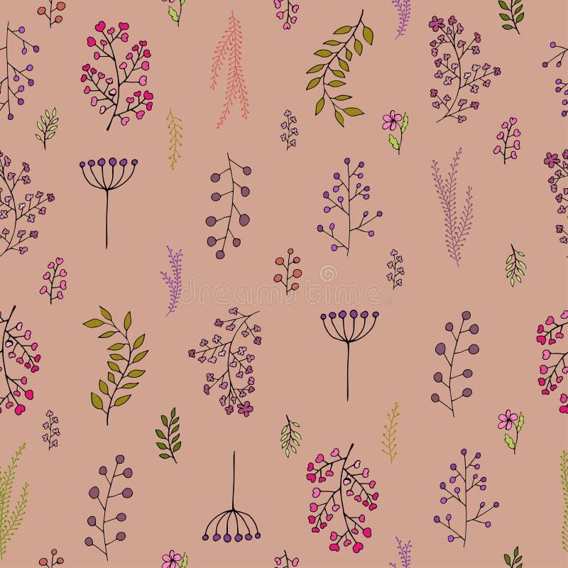 Διανυσματικό εκλεκτής ποιότητας άνευ ραφής floral σχέδιο απεικόνιση αποθεμάτων