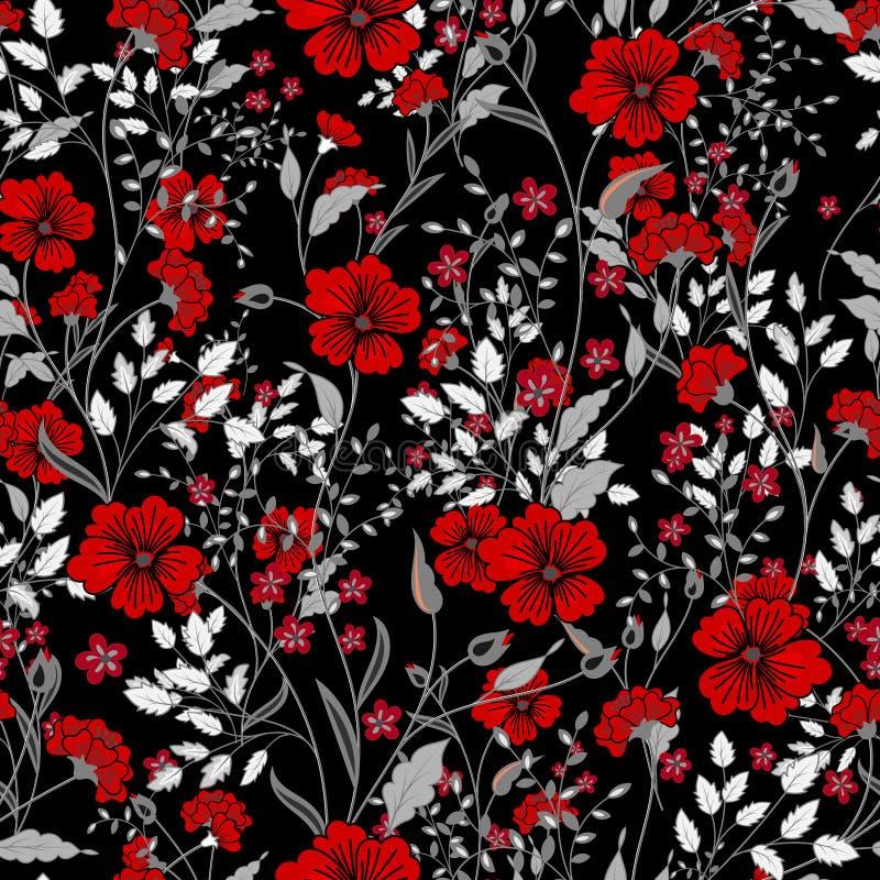 Διανυσματικό εκλεκτής ποιότητας άνευ ραφής floral σχέδιο άγρια περιοχές χορταριών &lambda στοκ φωτογραφίες με δικαίωμα ελεύθερης χρήσης
