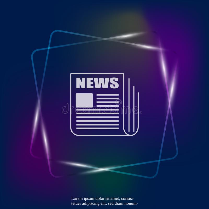 Διανυσματικό ελαφρύ εικονίδιο νέου ειδήσεων Ειδήσεις εφημερίδων Στρώματα που ομαδοποιούνται για ελεύθερη απεικόνιση δικαιώματος