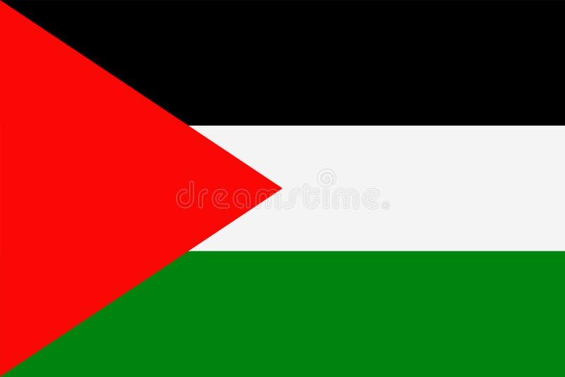 Διανυσματικό επίπεδο εικονίδιο σημαιών της Παλαιστίνης διανυσματική απεικόνιση