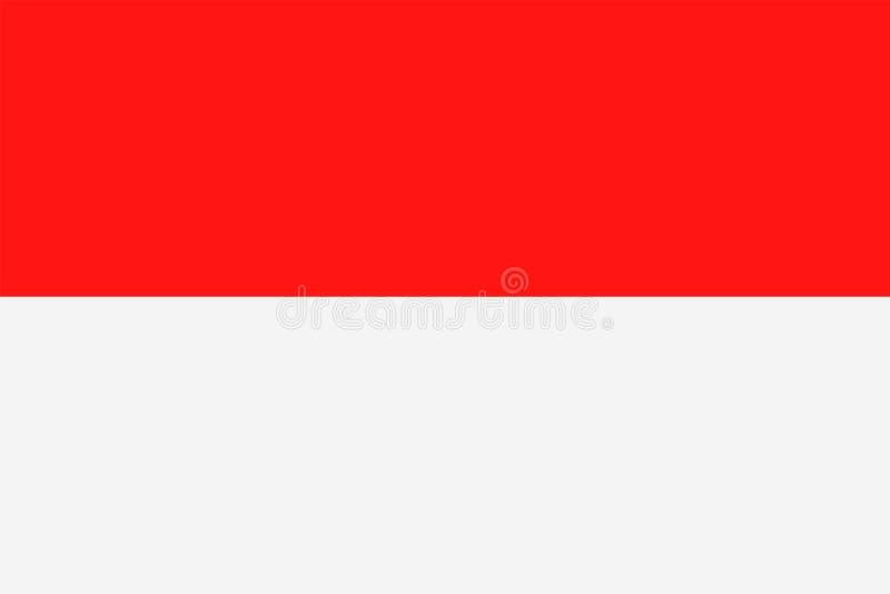 Διανυσματικό επίπεδο εικονίδιο σημαιών του Μονακό διανυσματική απεικόνιση