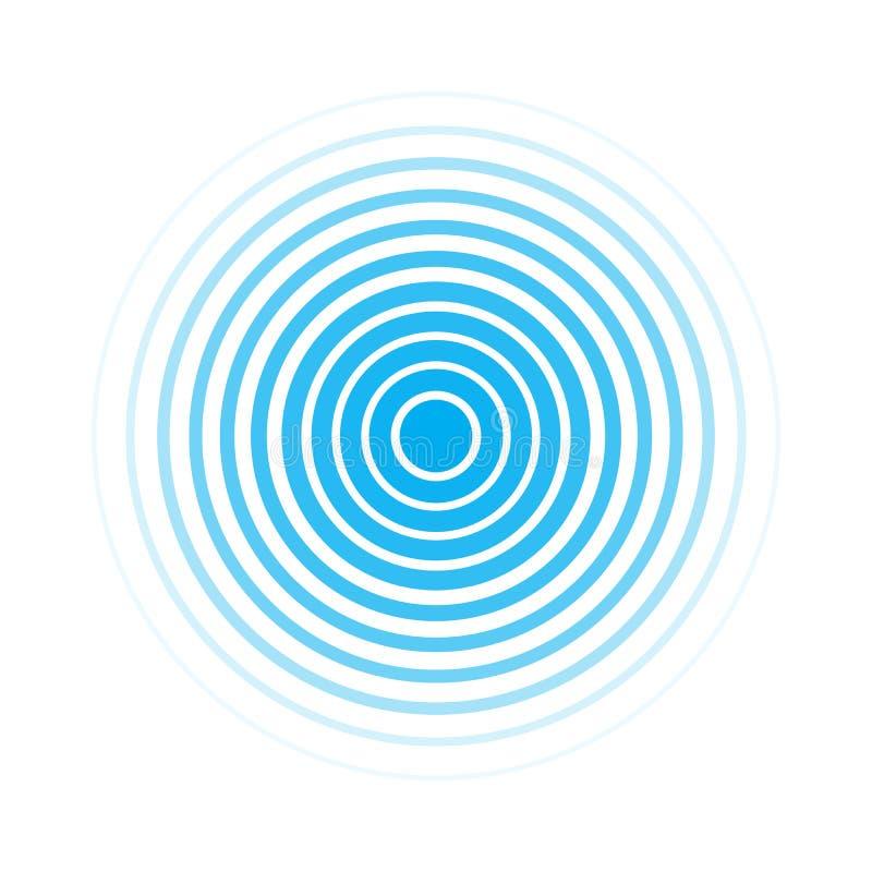 Διανυσματικό επίπεδο σύμβολο των υγιών κυμάτων διανυσματική απεικόνιση