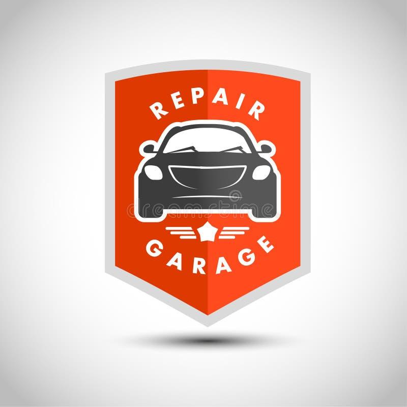 Διανυσματικό επίπεδο απλό minimalistic λογότυπο αυτοκινήτων απεικόνιση αποθεμάτων