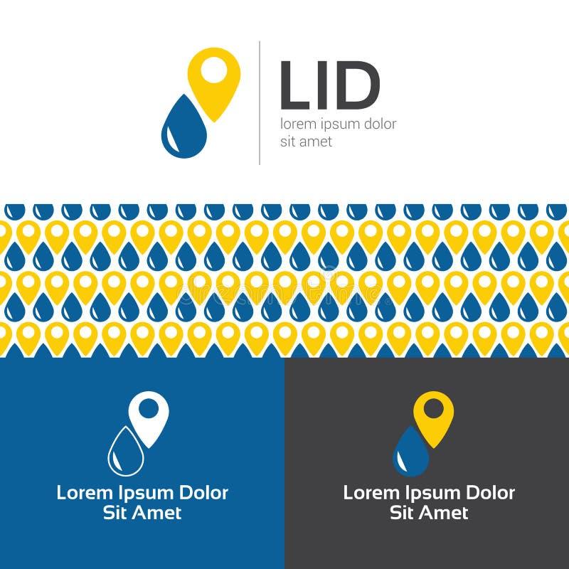 Διανυσματικό επίπεδο λογότυπο σταθμών καυσίμων που τίθεται με άνευ ραφής διανυσματική απεικόνιση