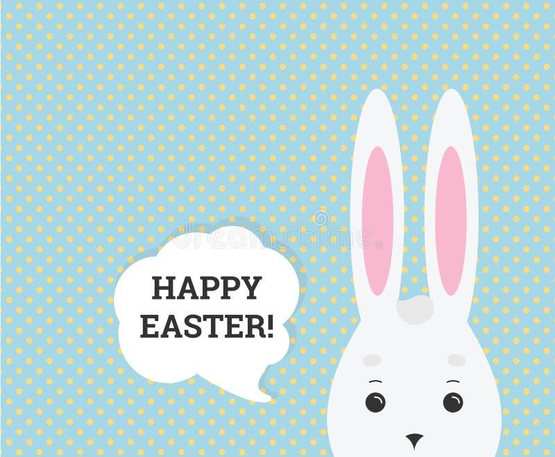 Διανυσματικό ευτυχές έμβλημα Ιστού ευχετήριων καρτών Πάσχας απεικόνιση αποθεμάτων